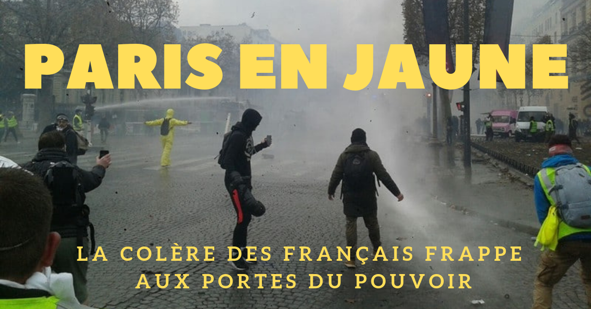 La marée jaune du peuple de France en colère a frappé aux portes du pouvoir. Le président n'a pas voulu écouter ce que les Français ont à dire. La partie n'est pas finie.