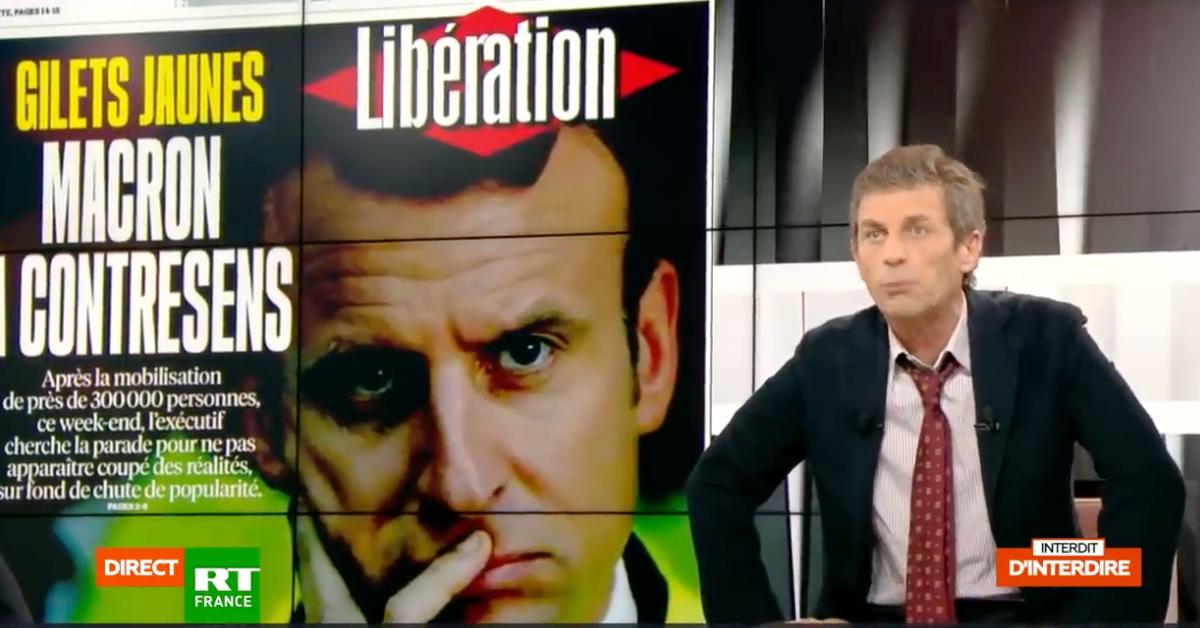 Sur le plateau de RT, le journaliste Frédéric Taddeï anime un débat sur un thème crucial : qui sont les gilets jaunes ?