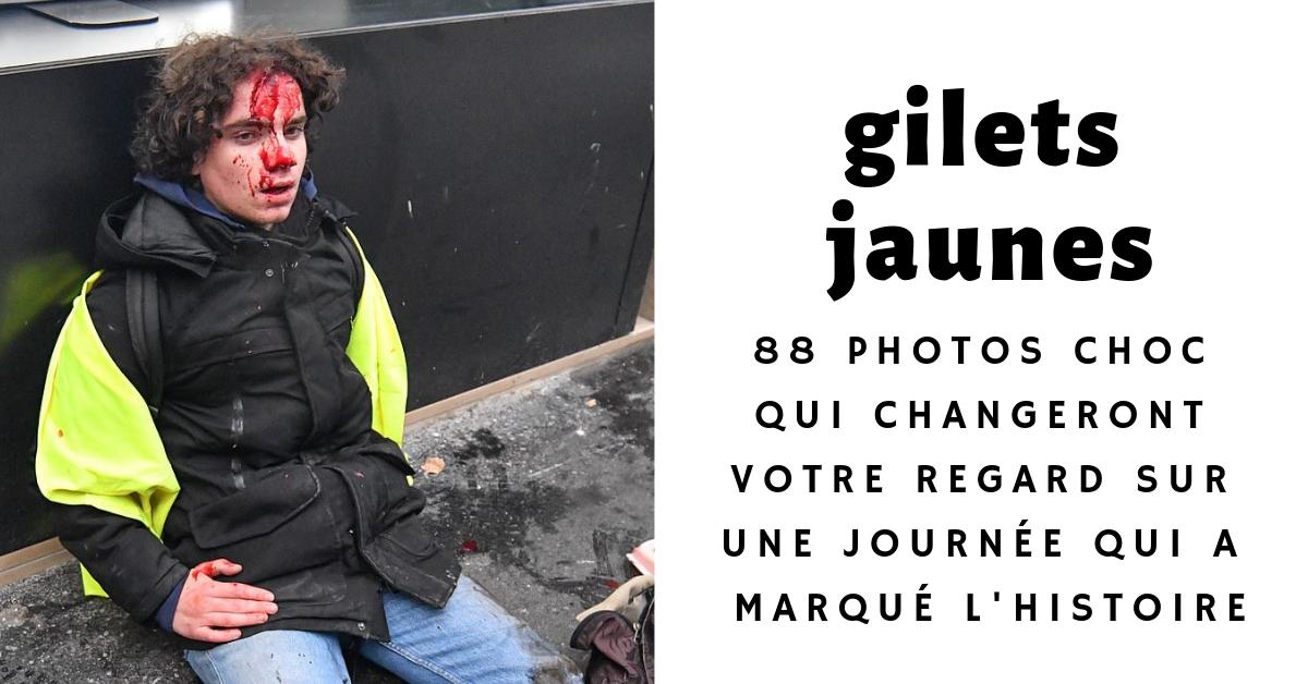 Les journalistes du Daily Mail ont publié un extraordinaire reportage avec pas moins de 88 photos sur la journée de protestation des gilets jaunes à Paris.