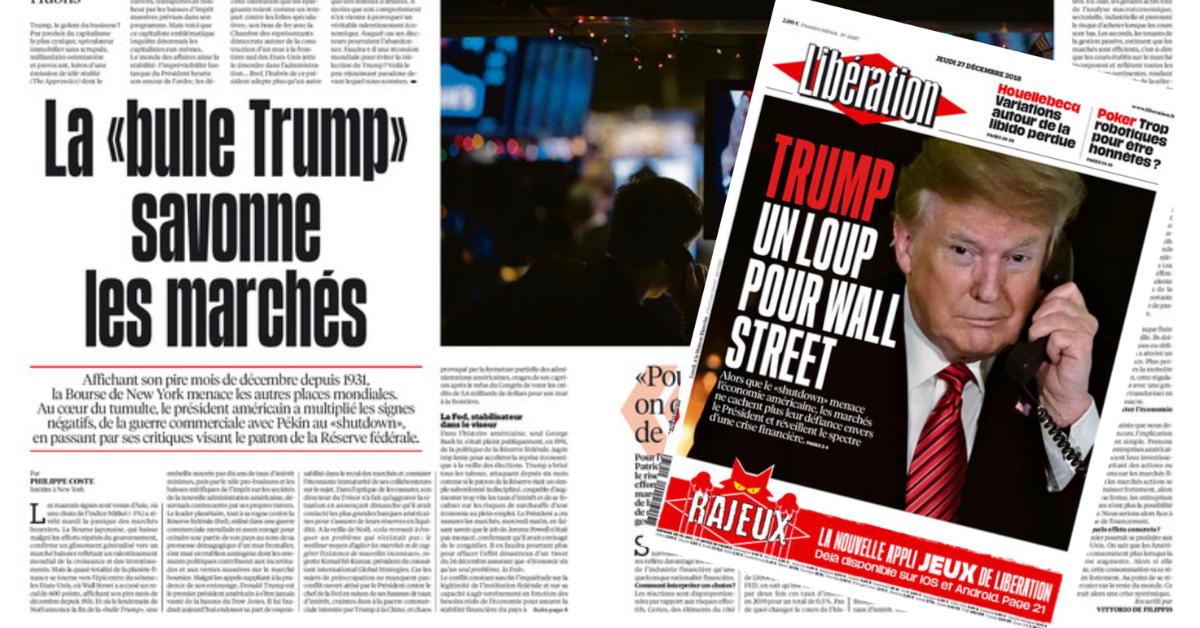 Le jour même où Libération accuse Trump de couler l'économie américaine, la bourse de New York enregistre sa plus grande hausse de l'histoire ! Quand les gaucho-bobos prennent leurs rêves pour des réalités.