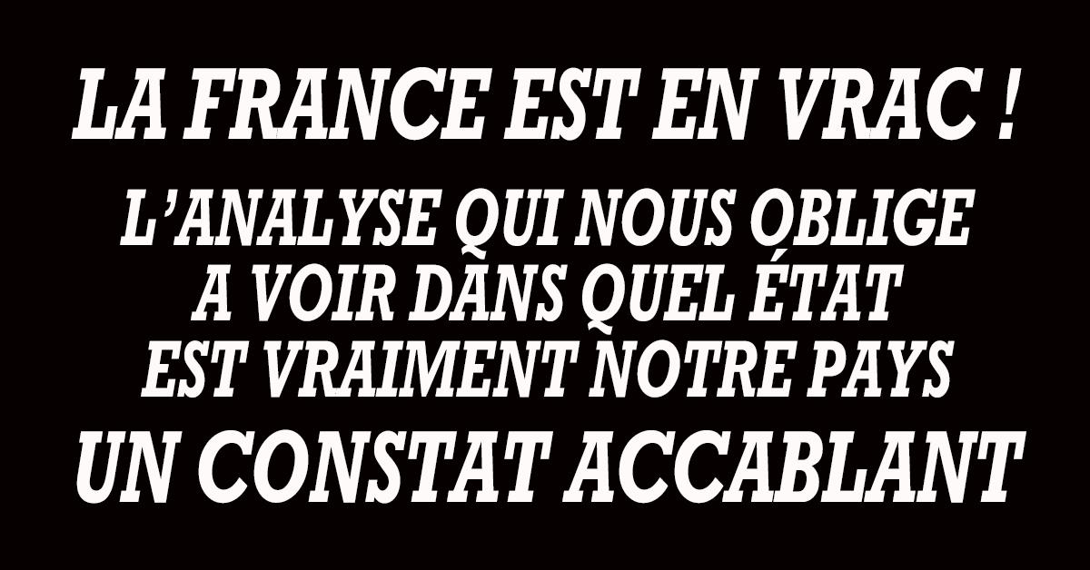 Pourquoi en sommes-nous là ? Pourquoi la France est-elle en vrac ? Qui sont ces donneurs de leçons qui savent tout, connaissent tout, décident à notre place et ne font qu'enfoncer notre pays dans la crise économique et le désordre politique ?