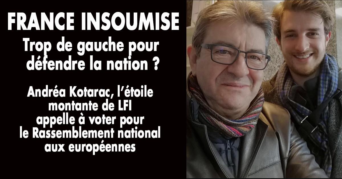 La gauche hésite toujours à protéger les siens. Au gens qui lui ressemblent, elle préfère venir en aide aux déshérités venus de l'autre côté de la mer au risque de s'aliéner ses concitoyens. Un jeune élu de la France insoumise en a eu assez de ce nationalisme d'apparence et a choisi le camp des Français.