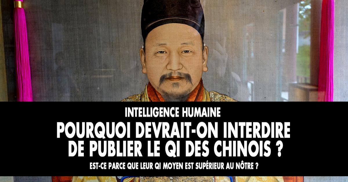 Rien de plus délicat à manier que la notion de Quotient intellectuel (QI) inventée par un Français. Publier les résultats des études internationales de QI conduirait à la guerre civile, rien de moins !