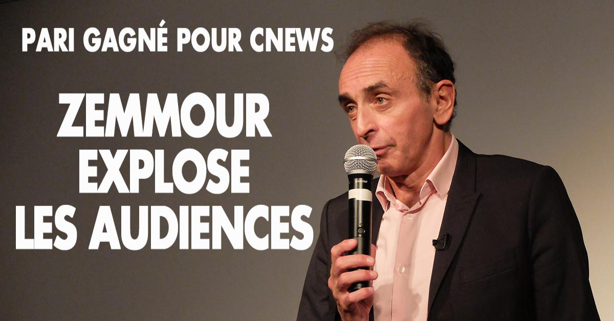 La grande manœuvre de la gauche bien pensante a échoué : Zemmour loin d'être réduit au silence se retrouve en prime time sur CNews et pulvérise les records d'audience. Les Français leur ont foutu une bonne claque dans leur gueule !