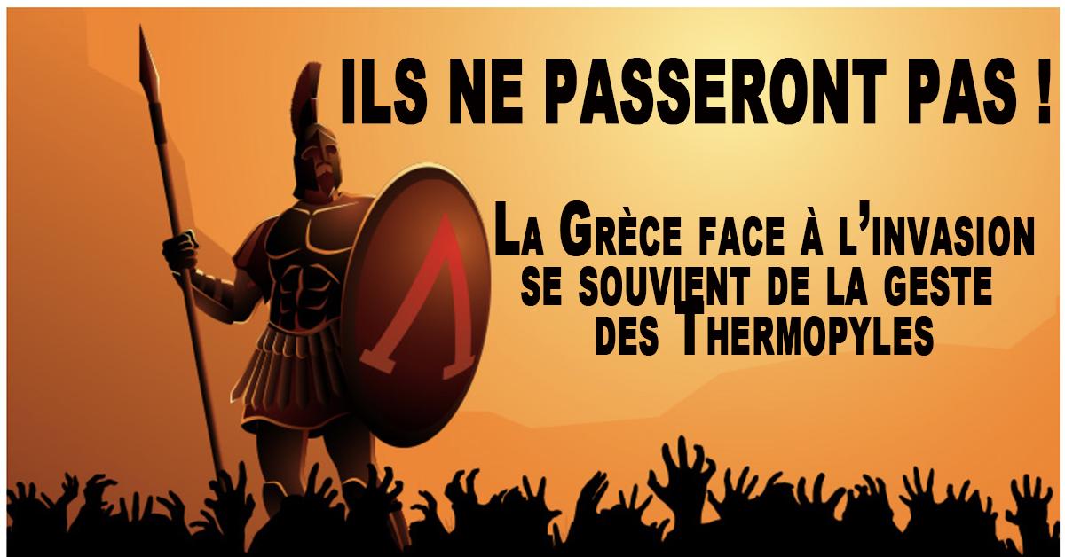 Alors que l'année 2020 marque le 2500e anniversaire de la bataille des Thermopyles où 300 Spartiates de Leonidas se sacrifièrent, retenant l'immense armée de Xerxes, la Grèce est de nouveau confrontée à une nouvelle menace d'invasion venue d'Orient