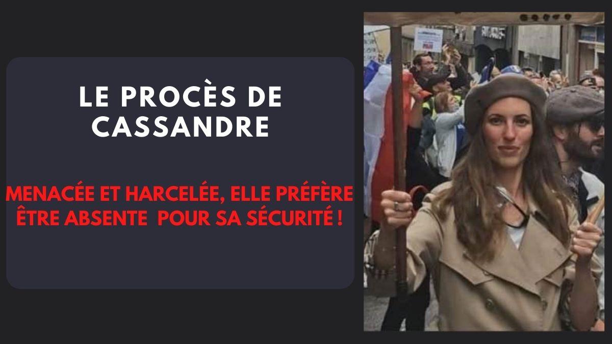 Menacée et harcelée, Cassandre préfère être absente du procès pour sa sécurité!